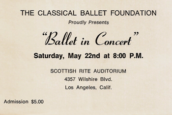 Ballet in Concert Ticket